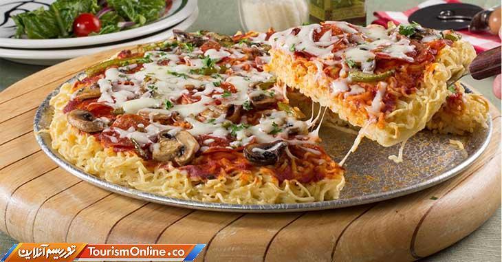 پیتزا نودل، جدیدترین پیتزایی که می توانید بدون فر درست کنید