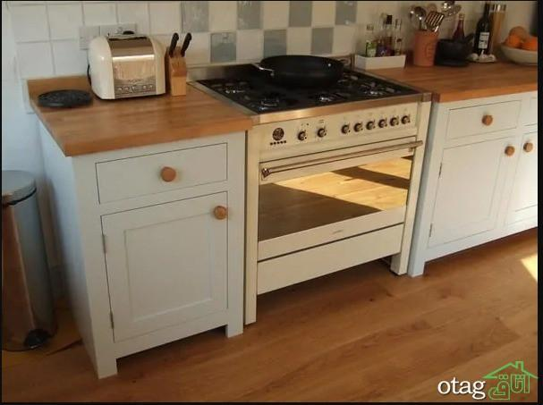 30 مدل کابینت پایه دار مناسب آشپزخانه بدون احتیاج به نصب